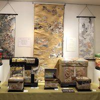 京友禅コーナー 藤井寛先生の作品が並びました。