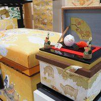 手描き京友禅の干支シリーズのインテリア茶箱 「亥」1K型
