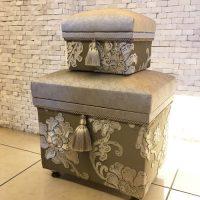 2015年秋「シルバー刺繍ペア茶箱」 ロングランで人気の茶箱です。東急限定のパッケージレッスンにもなりました。