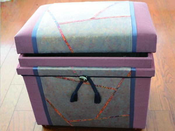 「帯」課題作品。祖母の帯を使用して作成。