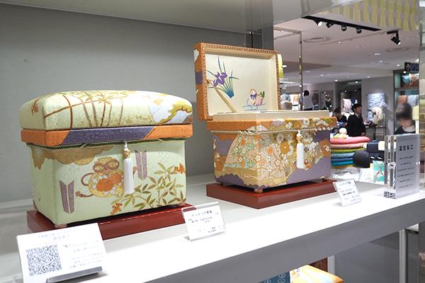 藤井寛 手描き京友禅「慶長山取幔幕図」丹色 1K型 と「正月」1K型