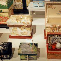 和物のインテリア茶箱とミニ桐茶箱