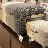 スカーフとお揃いの生地で仕立てたKEIKO KUROISHIのコラボデザイン茶箱