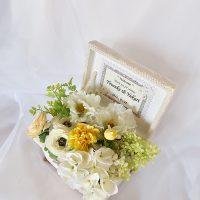 息子の結婚式の時にウェルカムテーブルを飾ったウェディング茶箱