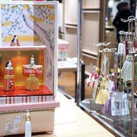 ミニ桐茶箱「桜」 立ちびなのお飾りセット