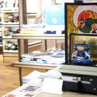 ミニ桐茶箱「風神雷神」 五月人形のお飾りセット