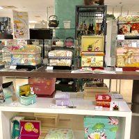 上段:素敵な和物のコーナー 下段:Koha*さんシリーズの茶箱が並びました。