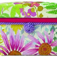 ミニ桐茶箱 気持ちも明るくなる鮮やかなデザインです。