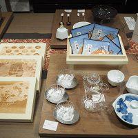 川根茶やガラス・陶器のセットも販売されました。