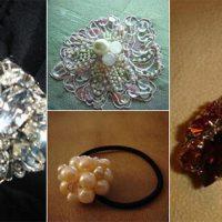 ビーズ刺繍の小物作品