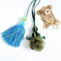 りぼんや刺繍糸などを使ったタッセル(レッスンで受講していただけます)